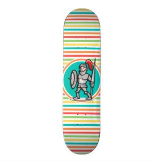 Knight on Bright Rainbow Stripes Skate Decks