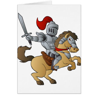 Knight on Horse Card