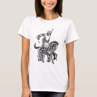 Knight on Horse Vintage Woodcut Engraving T-Shirt