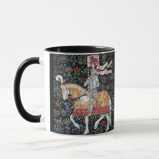 Knight on Horseback Mug Tile Montecute Tapestry