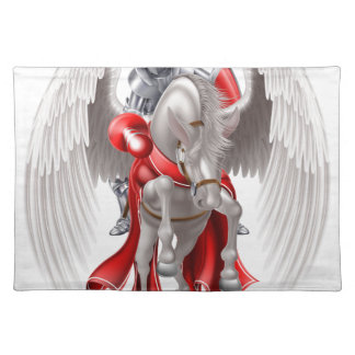 Knight on Pegasus Horse Placemat