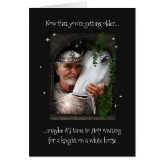 Knight on White Horse (not only for Birthdays ;-) Card