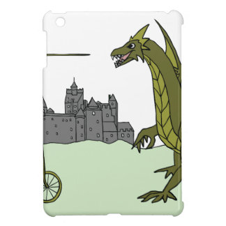 Knight Riding A Tall Bike Slaying A Dragon Cover For The iPad Mini