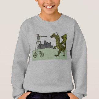 Knight Riding A Tall Bike Slaying A Dragon Sweatshirt