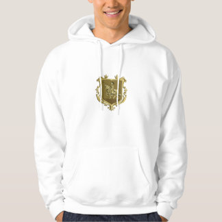 Knight Riding Steed Lance Coat of Arms Retro Hoodie