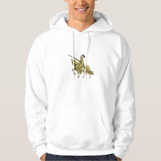 Knight Riding Steed Lance Isolated Retro Hoodie
