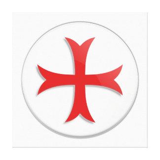 Knight s Templar Cross Symbol Gallery Wrapped Canvas