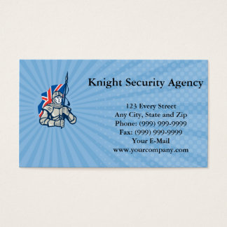 Knight Security Agency Business card