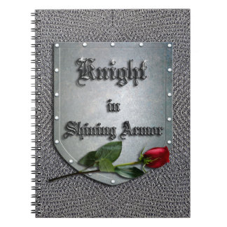Knight Shining Armor Rose Chainmail Spiral Note Book