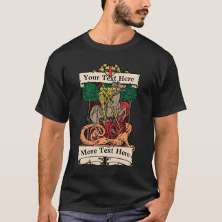 Knight Slaying Dragon T-Shirt