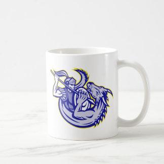 Knight St. George Fighting Dragon Mascot Mug