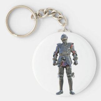 Knight Standing and Looking Forward Key Ring