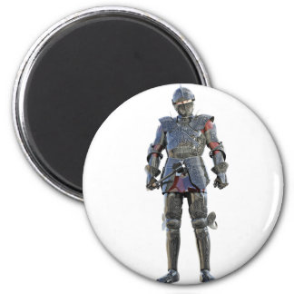 Knight Standing and Looking Forward Magnet