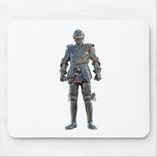 Knight Standing and Looking Forward Mouse Pad