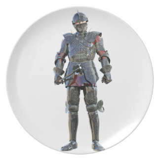 Knight Standing and Looking Forward Plate