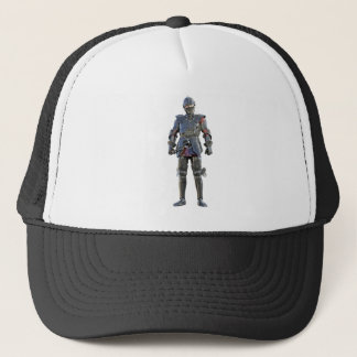 Knight Standing and Looking Forward Trucker Hat