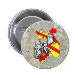 Knight stone pinback button