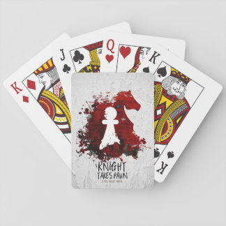 Knight Takes Pawn by Martha Sweeney Playing Cards