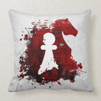 Knight Takes Pawn by Martha Sweeney Throw Pillow