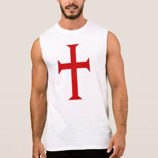 Knight Templar Cross Sleeveless Shirt