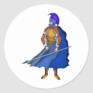 knight two classic round sticker