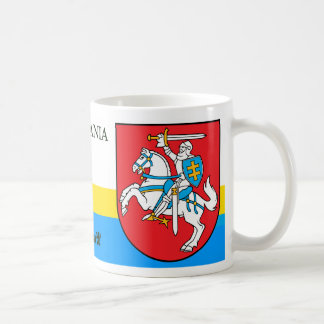 Knight w/ Sword and Shield Coat of Arms Lithuania Coffee Mug
