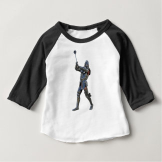 Knight walking to the right with mace baby T-Shirt