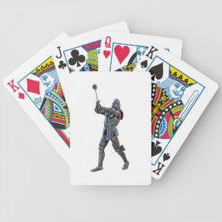 Knight walking to the right with mace bicycle playing cards