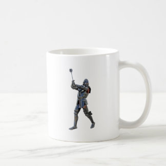Knight walking to the right with mace coffee mug