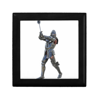 Knight walking to the right with mace gift box