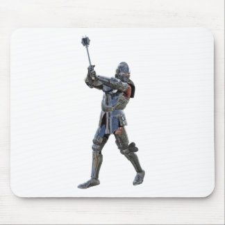 Knight walking to the right with mace mouse pad