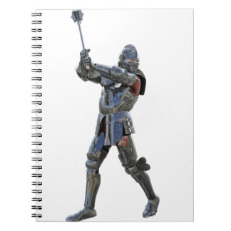 Knight walking to the right with mace notebook