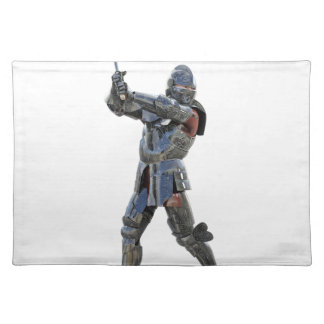 Knight walking to the right with mace placemat