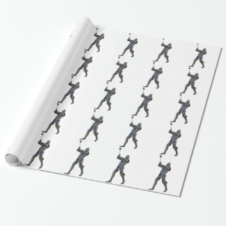 Knight walking to the right with mace wrapping paper