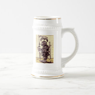 Knight with dove funny beer mug