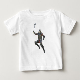 Knight with Mace Leaping to The Right Baby T-Shirt