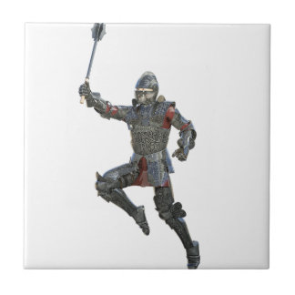 Knight with Mace Leaping to The Right Ceramic Tile