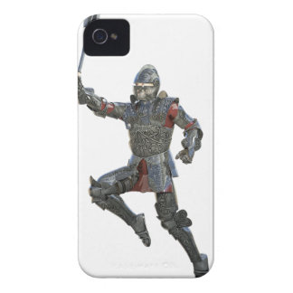 Knight with Mace Leaping to The Right iPhone 4 Case