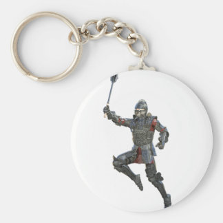 Knight with Mace Leaping to The Right Key Ring