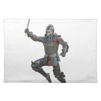 Knight with Mace Leaping to The Right Placemat