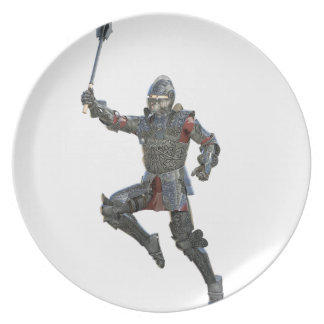 Knight with Mace Leaping to The Right Plate