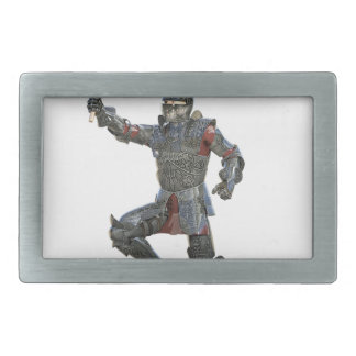 Knight with Mace Leaping to The Right Rectangular Belt Buckle