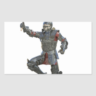 Knight with Mace Leaping to The Right Rectangular Sticker