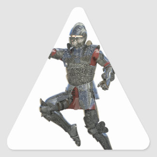 Knight with Mace Leaping to The Right Triangle Sticker