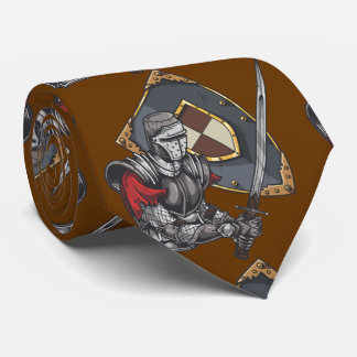 Knight With Sword and Shield Tie