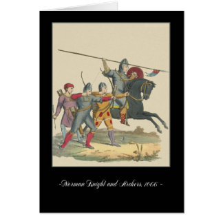 Knights and Armour Medieval Note Card, 1066 Knight Card