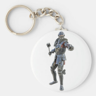 Knights Challenge to His Opponent Basic Round Button Key Ring