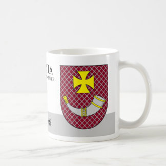 Knight's Cross & Horn Shield from Ventspils Latvia Coffee Mug