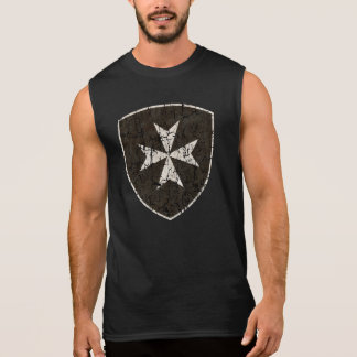 Knights Hospitaller Cross, Distressed Sleeveless Shirt