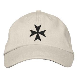 Knights Hospitaller Maltese Cross Embroidered Baseball Caps